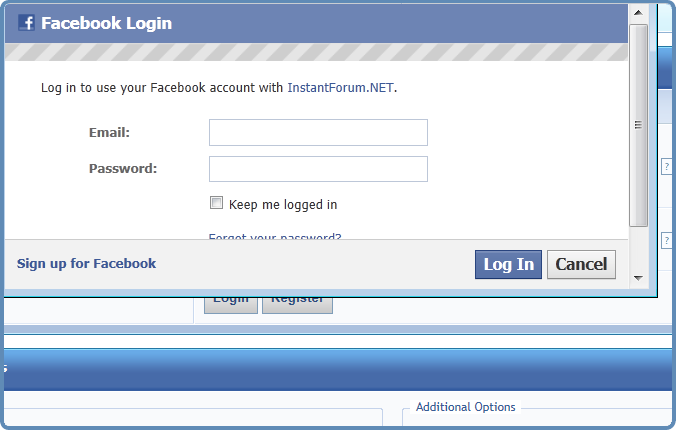 how to delete login names on facebook